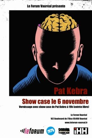 Show Case de Pat Kebra au vernissage de Partitions Urbaines vol. 2